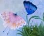 Blue and Pink Butterflies
