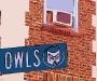 Highland Park Owls Street Sign