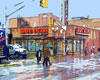 Americana Fine Art Print by Bill Bonner | Street scene in Perth Amboy, N.J.