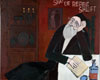 Fine Art Cards | Jewish Note cards |De Rebbe Shluft by Bill Giacalone