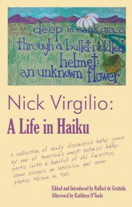 "Cover, ""Nick Virgilio: A Life in Haiku"""