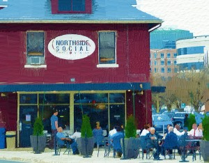 Photo painting of Northside Social in Arlington, VA