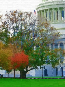Photo painting of U.S. Capitol