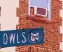 Highland Park Owls Street Sign
