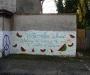 Street mural by Sacred Heart Church