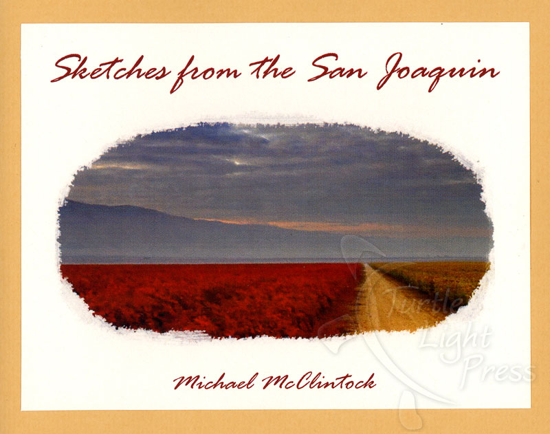Turtle Light Press Haiku Chapbook Competition Winner | Sketches from the San Joaquin by Michael McClintock | California