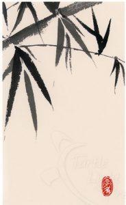 Sumi-e bamboo print