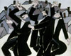 Fine Art Cards | Jewish Note cards |Hasidic Dancers by Bill Giacalone